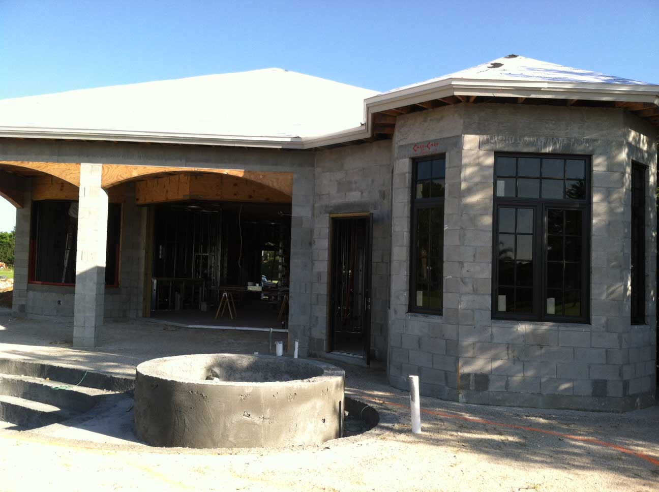 Naples house building methods and construction for Concrete house texas