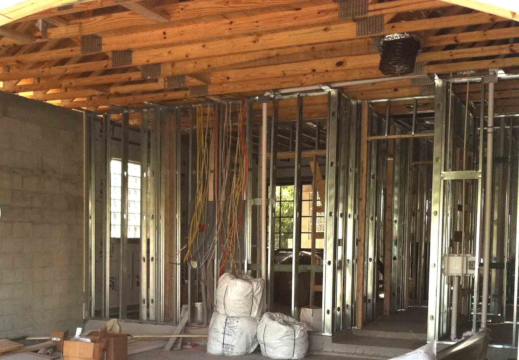 Naples house building methods and construction for House inside metal building
